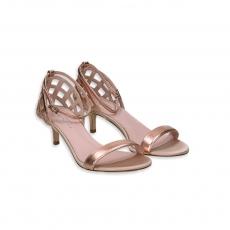 Sandalo Cestino laminato rose gold t.50