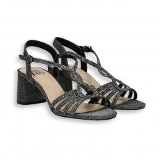 Sandalo listini lurex piombo T 50 mm.
