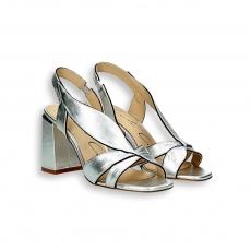 Sandalo foglie laminato argento T 70 mm.