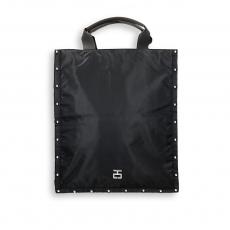 Borsa piatta verticale vela nero e borchie