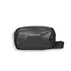 Belt Bag doppia zip eco pelle nero